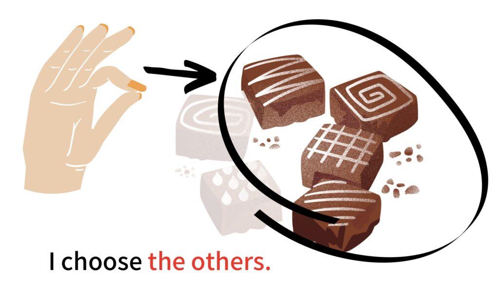 残り全てのチョコレートを取る場合:the others